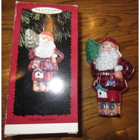 Hallmark Woodland Santa 1996 Ornament New Mib