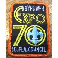 Vintage Boy Scout Patch Scout Bsa Boy Power Expo 1970 So Fla Council Florida
