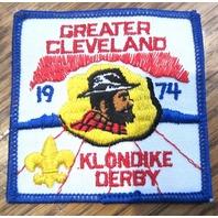 Vintage Boy Scout Patch Scout Bsa Camp Greater Cleveland 1974 Klondike Derby