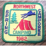 Vintage Boy Scout Patch Scout Bsa Camp Northwest Spring Camporee Camping 1982