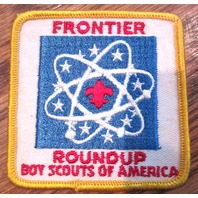 Vintage Boy Scout Patch Scout Bsa Frontier Round-Up Bsa