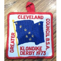 Vintage Boy Scout Patch Scout Bsa Greater Cleveland Klondike Derby 1973 Council