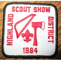 Vintage Boy Scout Patch Scout Bsa Highland Scout Show District 1984