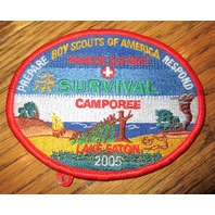 Vintage Boy Scout Patch Scout Bsa Marion District Survival Camporee Lake Eaton