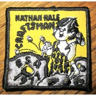 Vintage Boy Scout Patch Scout Bsa Nathan Hale Craftsman Bsa 1971