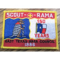Vintage Boy Scout Patch Scout Bsa Scout O Rama 150 Yrs East Texas Area Co. 1986