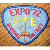 Vintage Boy Scout Patch Scout Bsa Shawnee District Expo 1972 Uniform