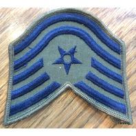 Blue & Green Shoulder Rank Star & Stripes Militarysubdude Usaf Teck. Sgt Patch