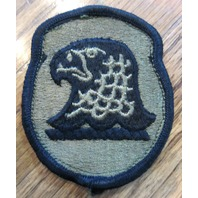 Hawk Or Eagle Bird In Green And Navy Military Air Force Uniform Patch