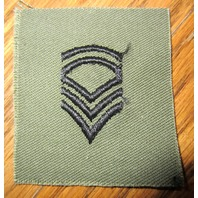Blue And Green Shoulder Rank Stripes Square Military Army Uniform Patch