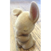 Vintage 1983 Hallmark Flocked Miniature Praying Bunny Rabbit