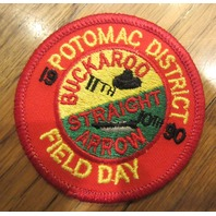 Royal Rangers Rr Uniform Patch Potomac District Buckaroo 1990 Straight Arrow