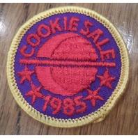 Vintage Girl Scout Uniform Patch Gs  Cookie Sale 1985