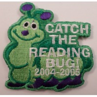 Girl Scouts Gs Vintage Uniform Patch Catch The Reading  Bug 2004-2005 #Gsgr