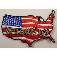 Veteran'S Day United States Shape Flag Uniform Military Patch  #Mtbk