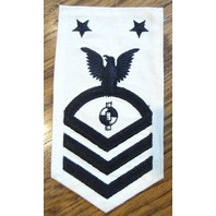 Us Navy Engineering Aide 1St Class Uniform Patch Navy And White