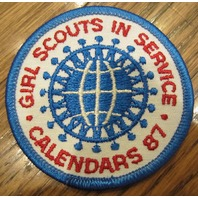 Girl Scouts Vintage Uniform Patch In Service Calendars 1987