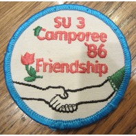 Girl Scouts Vintage Uniform Patch Su 3 Camporee 1986 Friendship