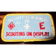 Bsa Boy Scout Uniform Patch Scout O Rama 1978 Scouting On Display