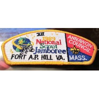 Bsa Boy Scout Uniform Pocket Flap Patch National Jamboree Fort A.P. Hill Va