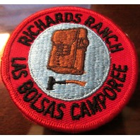 Boy Scout Patch Vintage Bsa Richards Rance Las Bolsas Camporee