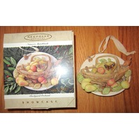 Hallmark 1995 Nature'S Sketchbook Backyard Orchard Mib Marjolein Bastin Ornament