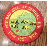 Royal Rangers Rr Uniform Patch 1997 Pow Wow Potomac Dist 1St Central Division