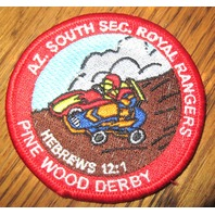 Royal Rangers Rr Uniform Patch A-Z South Sec 2008 Pine Wood Derby Hebrews 12:1