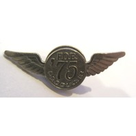 Silver Tone Fraternal Order Eagles F.O.E. 1975 Producer Lapel Hat Tie Tack Pin