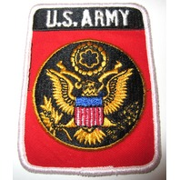 U.S Army Eagle Uniform Patch In Red And Black