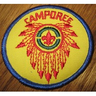 Boy Scout Patch Vintage Camporee Feathers Fleur De Lee