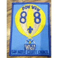 Bsa Boy Scout Uniform Patch Bsa Pow Wow 1988 San Mateo County Council