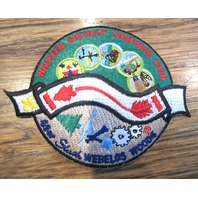 Bsa Boy Scout Uniform Patch Bsa Waukeen District Camporee 1996 Webelos Woods
