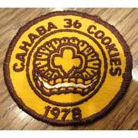 Girl Scouts Vintage Uniform Patch Cahaba 36 Cookies 1978