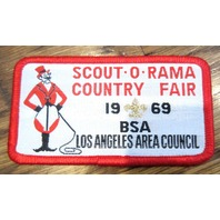 Bsa Boy Scout Uniform Patch Bsa Scout-O-Rama Country Fair 1969 Los Angeles Area