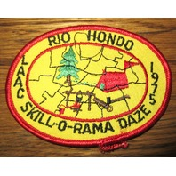 Bsa Boy Scout Uniform Patch Rio Hondo Laac Skill O Rama Daze 1975 Bsa