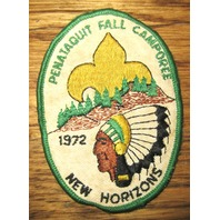 Bsa Boy Scout Uniform Patch Pentaquit Fall Camporee New Horizons 1972
