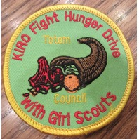 Girl Scouts Vintage Uniform Patch Kiro Fight Hunger Drive Totem Council
