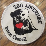 Girl Scouts Vintage Uniform Patch Zoo Adventure Totem Council