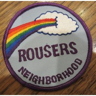 Girl Scouts Vintage Uniform Patch Rousers Neighborhood Rainbow Cloud