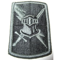 Military Uniform Patch Helmet And Sword With Lightning