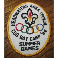 Boy Scout Patch Headwaters Area Council Summer Game '84