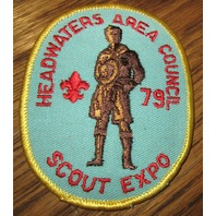 Boy Scout Vintage Patch Headwaters Scout Expo 1979