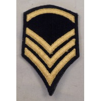 Chevron 3 Stripes Navy And Gold Uniform Patch Military  #Mtbl