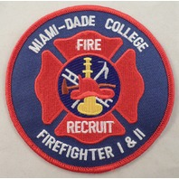 Miami-Dade College Fire Recruit Firefighter 1 And 2 Uniform Patch #Mtrd