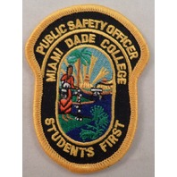 Public Safety Officer Miami Dade College Student'S First  Uniform Patch #Mtyl