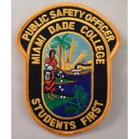 Public Safety Officer Miami Dade College Student'S First Uniform Patch #Mtyl Vr2