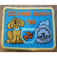 Girl Scout Gs Vintage Uniform Patch Beanie Bash 1998 Dog And Cat Fish Bowl
