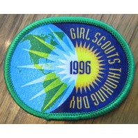 Girl Scout Gs Vintage Uniform Patch Girls Thinking Day 1996