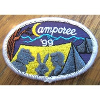 Girl Scout Gs Vintage Uniform Patch Camporee 1999 Camping Tent